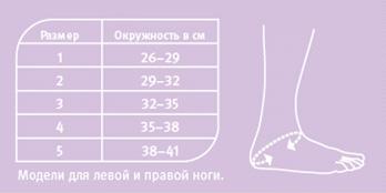 как подобрать размер ортеза на голеностопный сустав